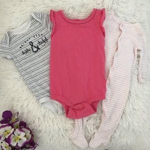 🎀🧸 3 Baby Girl Bodysuits 🧸🎀
